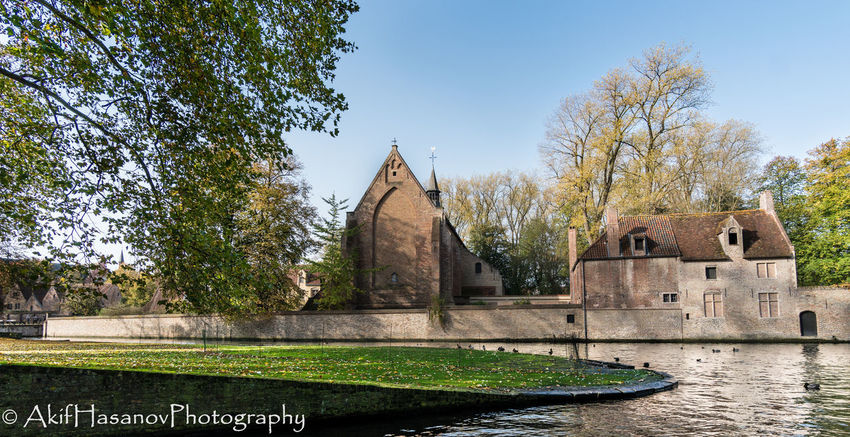 Bruges, Belgium Architecture Building Exterior Built Structure Day History Tree Water