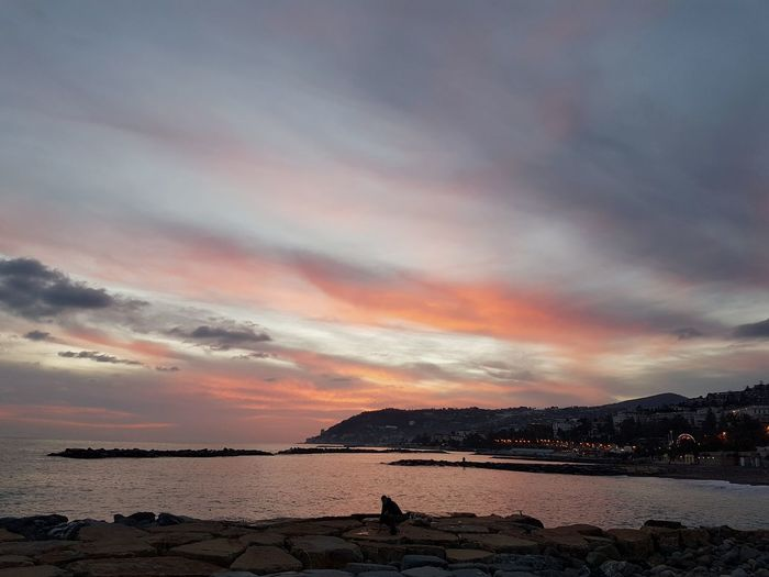 Sunset Sea Dramatic Sky Scenics Beach Water Nature Cloud - Sky Tranquil Scene Beauty In Nature Landscape Horizon Over Water Sky