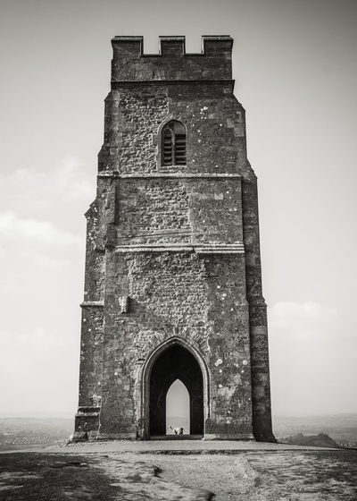 Arch Architecture Black & White Black And White Building Exterior Built Structure Entrance EyeEm Best Shots Glastonbury Tor History Low Angle View Outdoors Travel Destinations