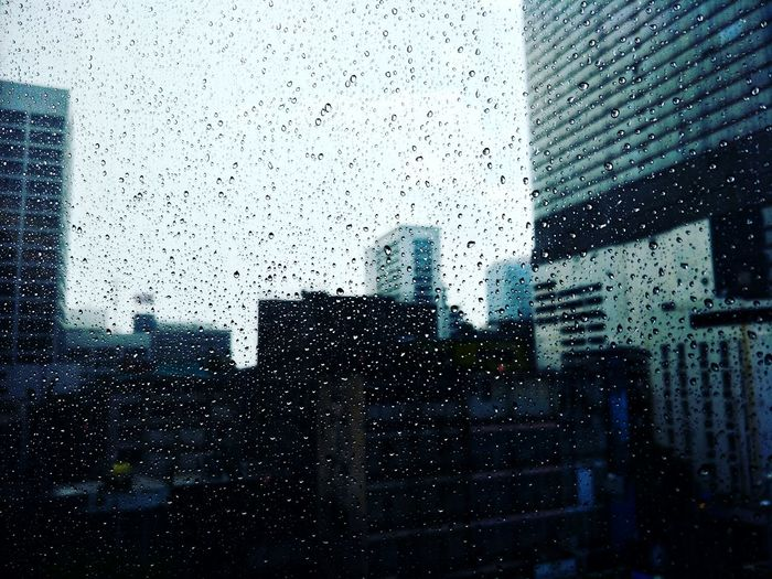 Rainy Days☔ Raindrops On My Window Backgrounds RainDrop Full Frame Drop City Window Wet Condensation Weather