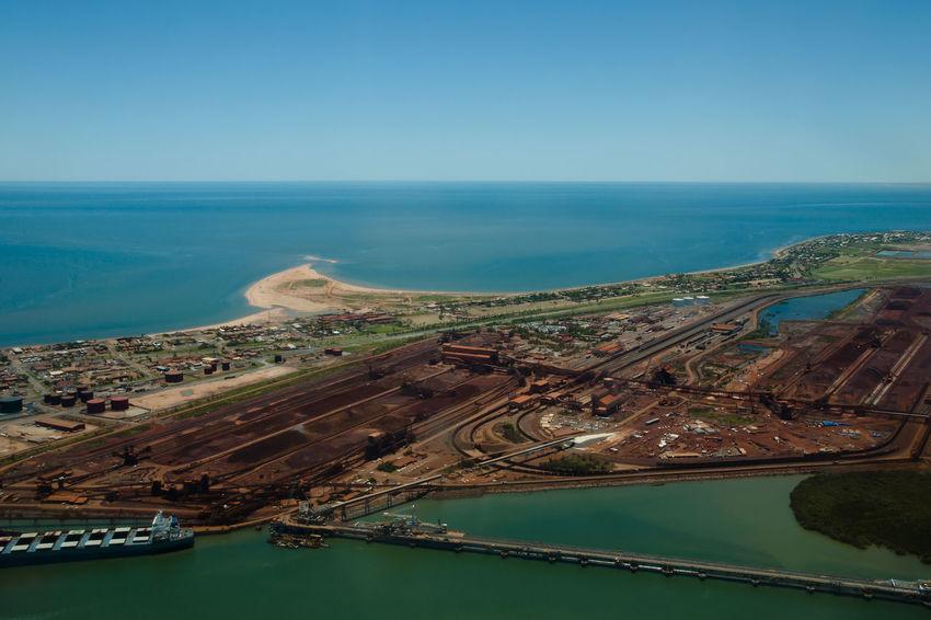 Port Hedland - Australia Australia Harbor Loading Dock Port Hedland Iron Ore Nautical Vessel Port Water