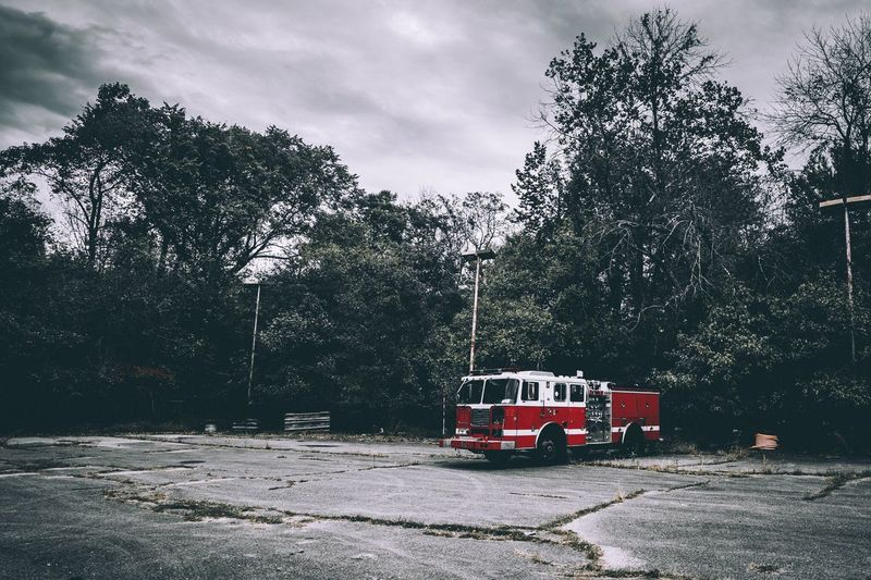 🚒 Abandoned Urbex Urbexexplorer Explore EyeEm Best Shots Firetruck Land Vehicle Transportation Fire Engine Urban No People
