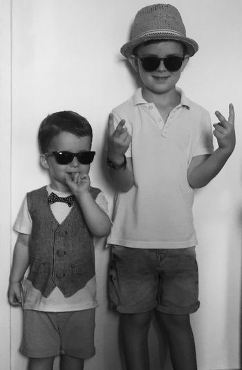 Hat Blues Brothers Brother Cool Kids Cool Attitude Alcapone Classe Is For Men ! Sunglasses Two People Childhood Three Quarter Length Child Glasses Males