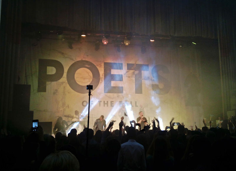 Music Popular Music Concert Arts Culture And Entertainment Performance Stage - Performance Space Performance Group Nightlife Crowd Audience Live Event Illuminated Performing Arts Event Night Fan - Enthusiast Event People Rostov-on-Don City Life Poets Of The Fall Cool Motion