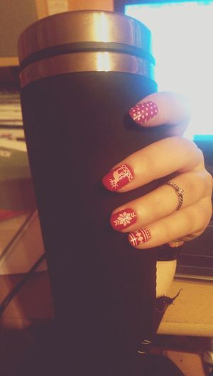 Christmas Nails Relaxing Love Everybody <3