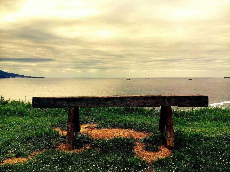 In front of the sea Sea Bench Mar Banco Cielo Sky Relaxing Bizkaia