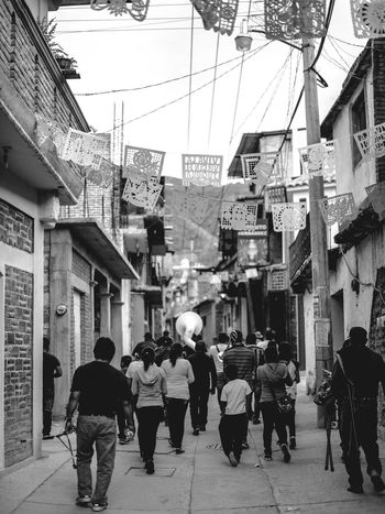Adult Adults Only Architecture Band Building Exterior Built Structure City Day Festivities Large Group Of People Men Mexico Music Oaxaca Outdoors People Streetphotography Travel Travel Photography Women