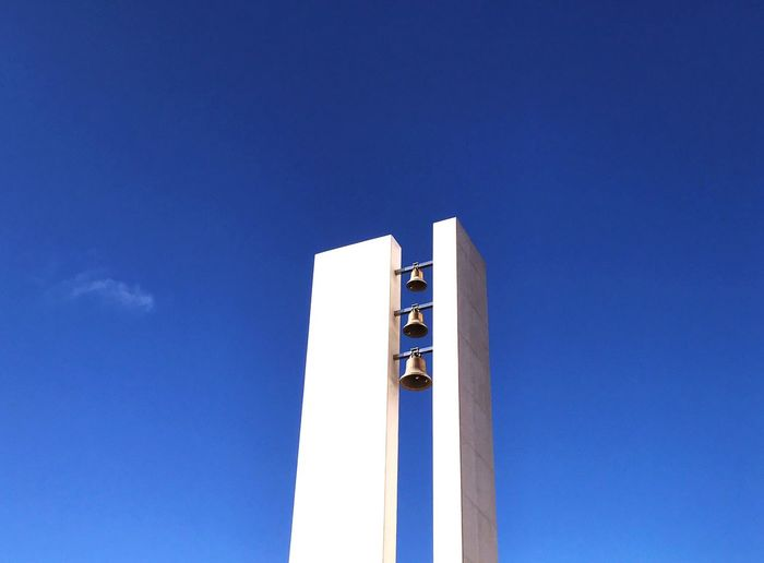 Low angle view of modern bell tower