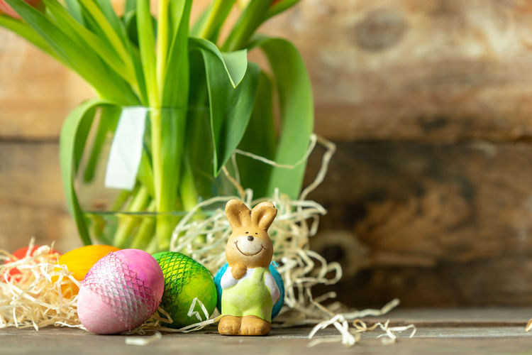 Easter bunny Eggcup Easter Springtime Celebration Easter Egg Hunt Easter Egg Cultures Tradition Egg Close-up Easter Bunny Figurine  Animal Representation Animal Egg Toy Animal