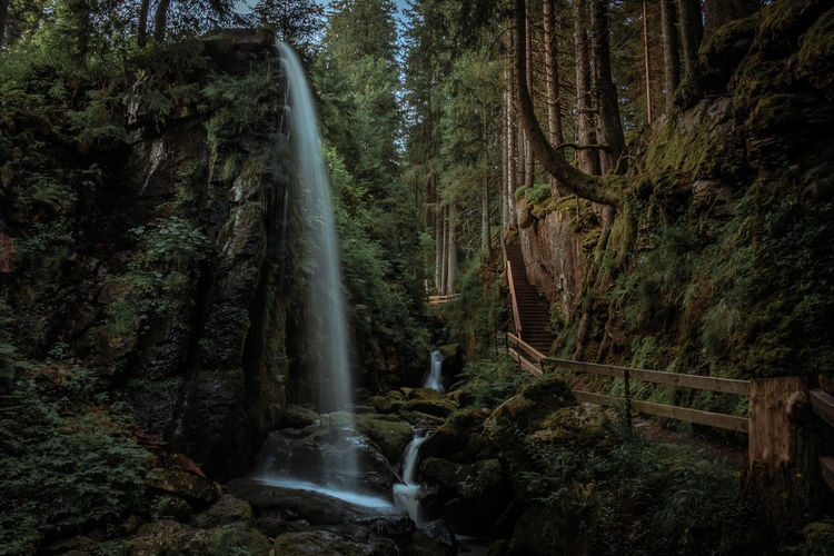 Menzenschwander Wasserfall Beauty In Nature Black Forest Day Flowing Flowing Water Forest Long Exposure Motion Nature No People Outdoors Rock Rock - Object Rock Formation Schwarzwald Stream Tree Water Waterfall