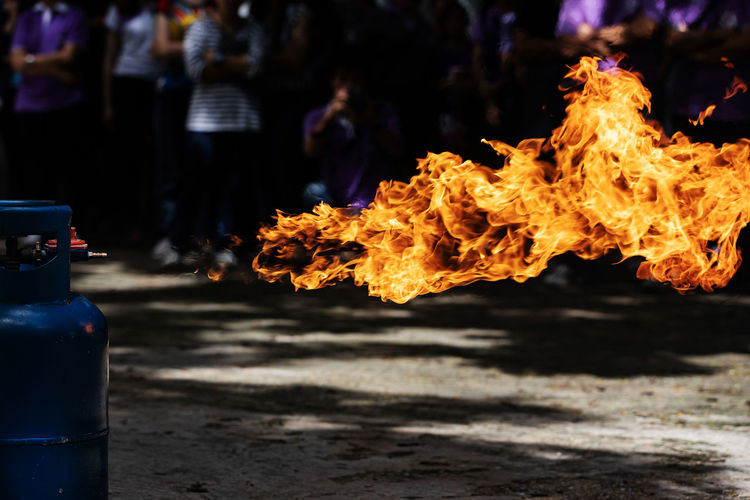 Close-up of fire flame