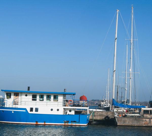 Yachting Sailing Ship Water Nautical Vessel Yacht Harbor Sea Tall Ship Clear Sky Moored Marina Anchored