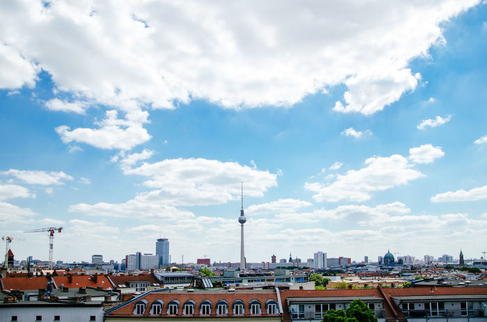 Architecture Berlin Berlin Mitte Berliner Ansichten Building Exterior Built Structure City Cityscape Cloud - Sky Communication Day No People Outdoors Sky Tower Travel Destinations