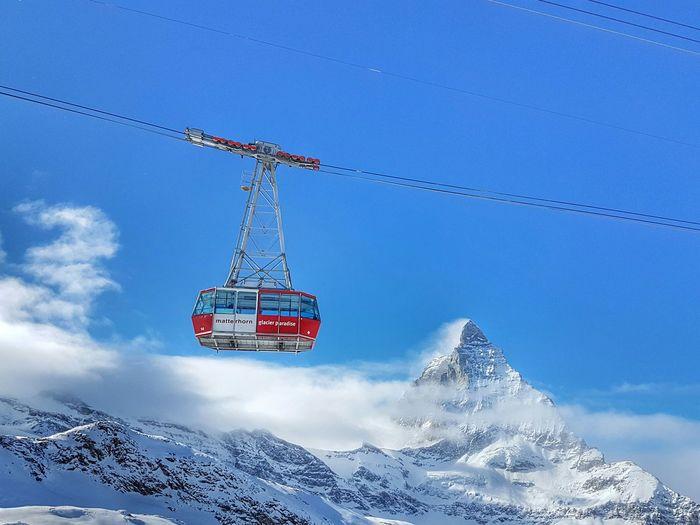Sky Landscape Mountains Funicular Seilbahn Funiculaire  Matterhorn