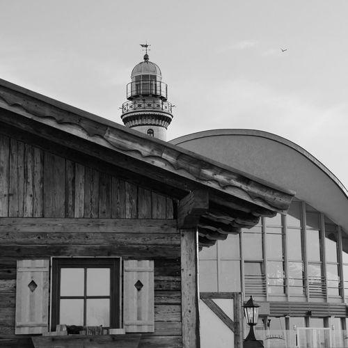 Lighthouse Mecklenburgvorpommern Black And White Black & White Blackandwhite Warnemünde Leuchtturm Almhütte Meer The Architect - 2017 EyeEm Awards