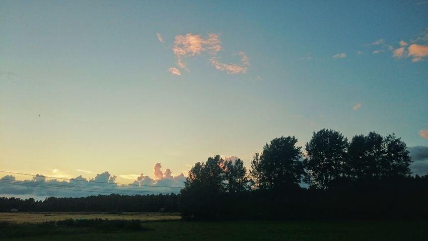 Summer Finland Sunset Slouds Sky Glorydays Landscape Sony Xperia Z3