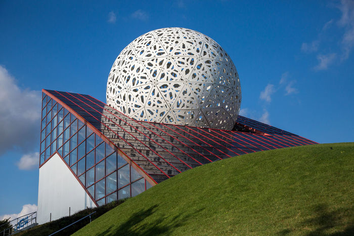 Futuroscope Theme Park Futuroscope Theme Park | Poitiers - France Futuroscope2017 Leisure Park Architecture Building Exterior Built Structure City Day Dome Modern No People Outdoors Sky Travel Destinations