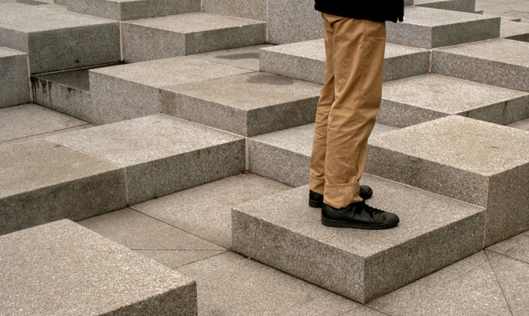 35mm Film Film Portra 400 Adult Adults Only Business Businessman Day Film Photography Human Leg Low Section Marble Men One Man Only One Person Only Men Outdoors People Staircase Steps