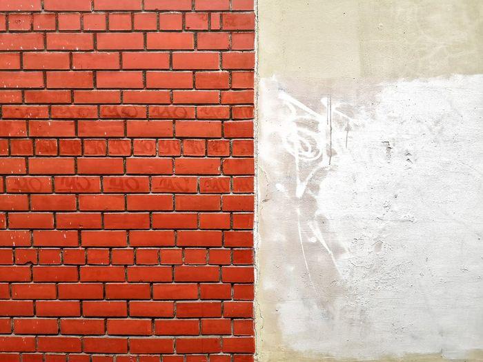 Detail shot of brick wall