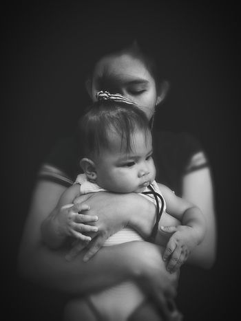 Taking Photos Check This Out Black And White Photograph Mobilephotography Eyeem Philippine Mother And Chil