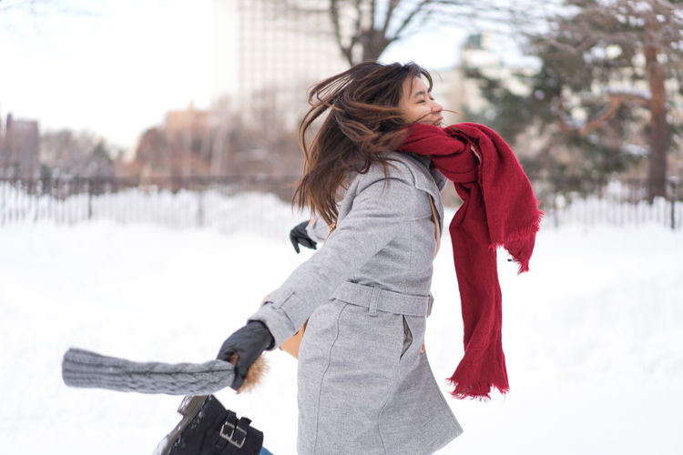 Asian  Japan Japan Photography Japanese  Sapporo,Hokkaido,Japan Snow ❄ Woman Adult Clothing Cold Temperature Hair Hairstyle Leisure Activity Long Hair Nature One Person Outdoors Portrait Sapporo Scarf Side View Snow Snowing Standing Three Quarter Length Warm Clothing Winter Women Young Adult