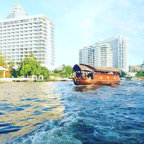 Chaopraya river Bangkok Thailand. Relaxing Chaopraya View Bangkok Life Thailand_allshots