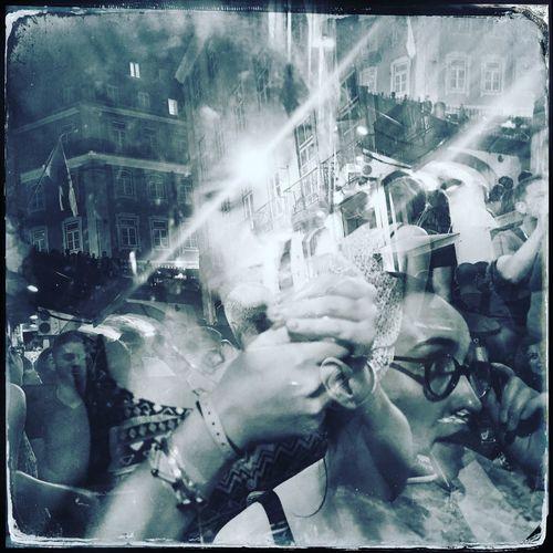 Lisbon Portugal Double Exposure Smoking Urban Night Nightlife Caisdosodre Blue Glasses