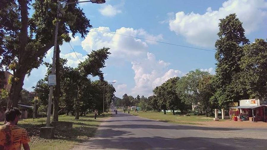 Durgapur Hometown Durgapuja Comming MaaAsche Perfectweather Sky Bluesky Clouds BeingBengali