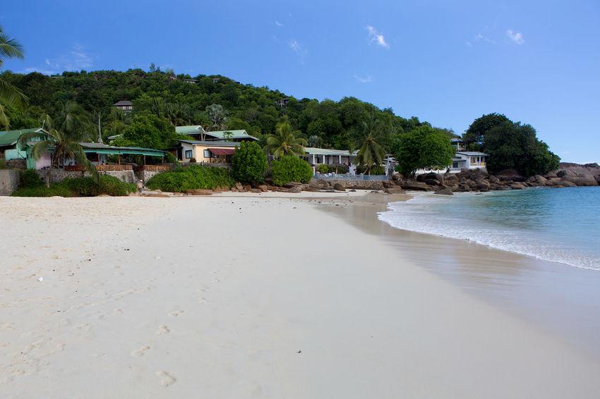 La Digue Anse Lazio Anse Source D'argent Architecture Beach Blue Day Landscape Mahé Nature No People Outdoors Praslin Seychelles Sand Sea Sky Tranquility Travel Destinations Tree Water
