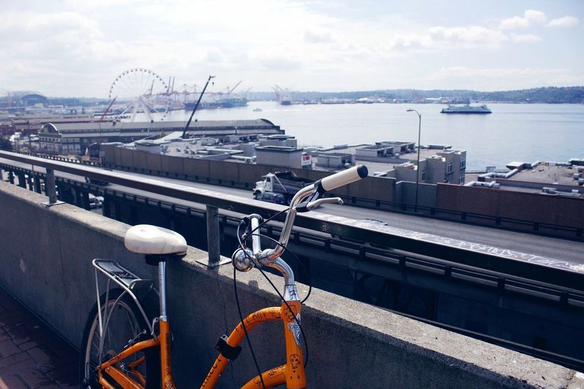 Sky Transportation Bicycle EyeEmBestPics Seattle Seattle Skyline Seattle's Best Sea And Sky City Life Outdoors City Landscape Northwest Eyeemphotography Photography Amateur Photography EyeEm Best Shots Amateurphotography EyeEm Gallery Color Pop City Culture City Vibes Busy Street Busy City EyeEmNewHere