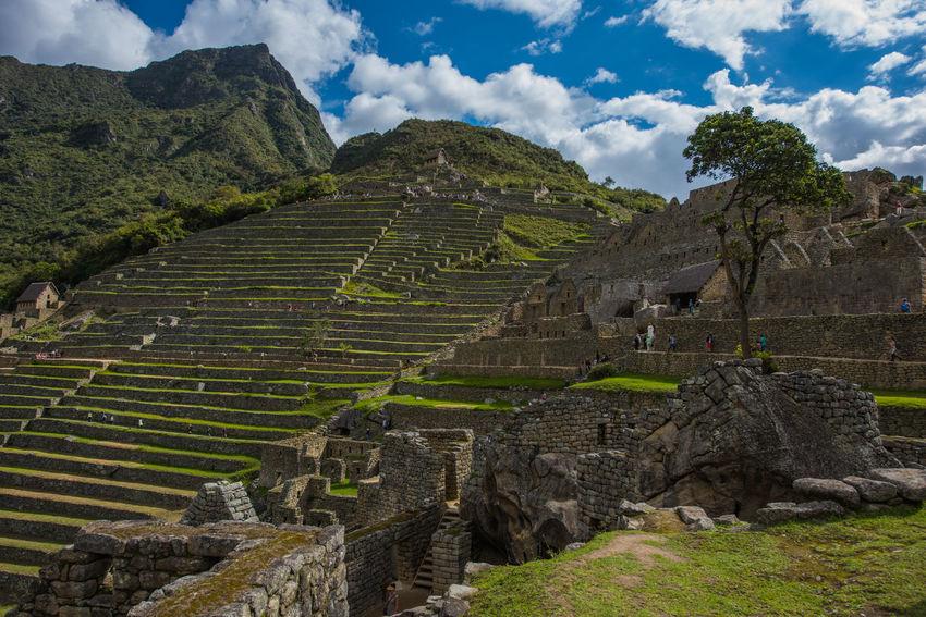 Inca Inca City Inca Ruins Macchu Picchu Outdoors Peru Peru Traveling Peruvian Sky And Clouds South America