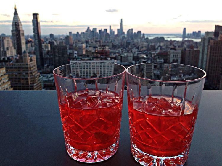 Negroni New York Manhattan Skyline