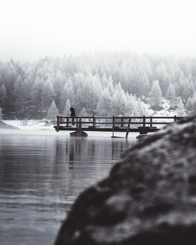 Water Nautical Vessel Transportation Nature Fog Mode Of Transportation Sky Day No People Tranquility Outdoors Scenics - Nature Pier Waterfront Built Structure Tranquil Scene Beauty In Nature River Frozen Frozen Nature Winter Wintertime Winter Wonderland Switzerlandpictures Moodygrams
