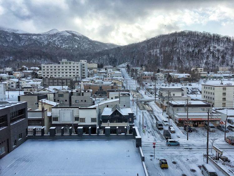 Snow Mountain Winter Architecture Cold Temperature Weather Built Structure House Nature Sky Cityscape Scenics Toya