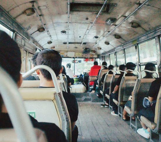 "I called this bus ""bus of loyalty"" รถแห่งความจงรักภักดี Iwanborninrama9 ฉันเกิดในรัชกาลที่ ๙ Travel Transportation Real People"