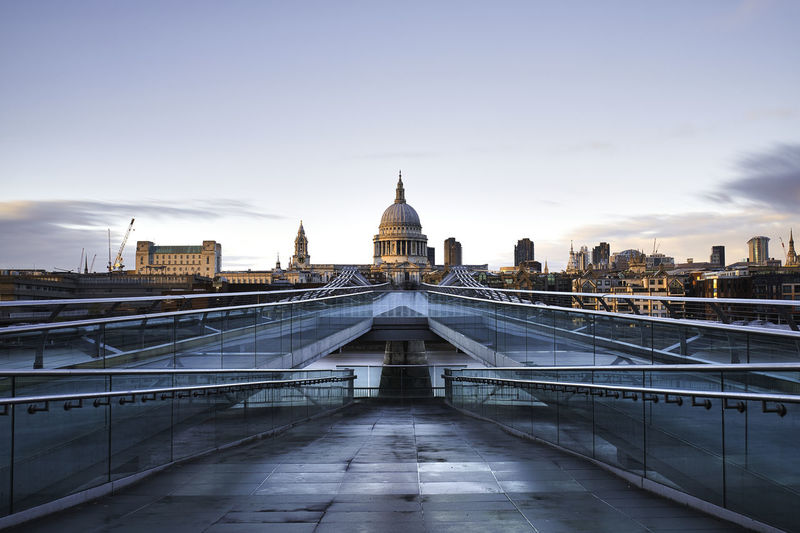 St pauls cathedral at sunset after a fresh rain
