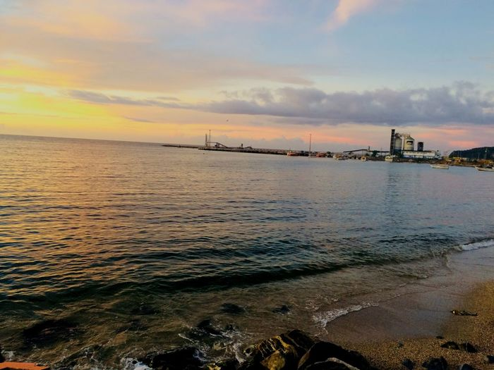 Regalo de Dios #Dock Sky Cloud - Sky Sunset Beach Land Beauty In Nature Tranquil Scene Scenics - Nature Tranquility Water Sea Nature Horizon Over Water Outdoors