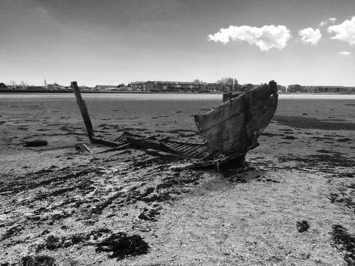 The old boat rotting away. Langstone Harbour  Old Boat Wooden Boat Rotting Away Decaying Wood Harbour Harbour View
