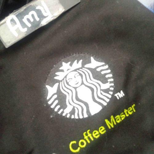 Second day wearing Coffee Master apron. Must wash it already. Area14rocks Blackapronshowall Blackapronproject