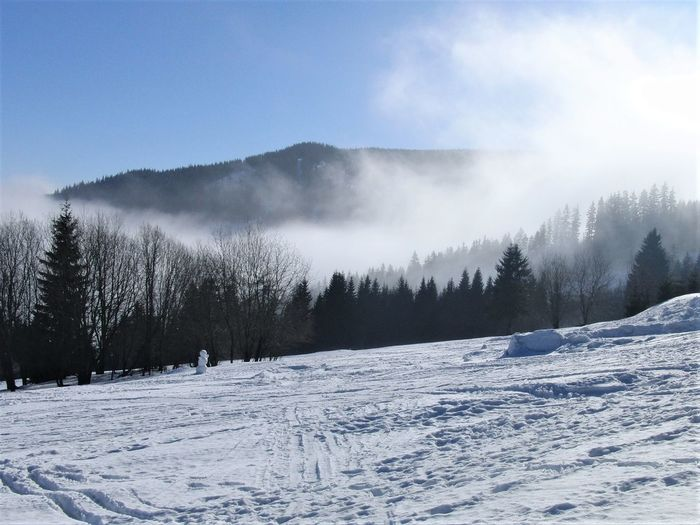 Czech Republic Morning Blue Cloud - Sky Cold Temperature Covering Day Environment Fog Landscape Mountain No People Non-urban Scene Scenics - Nature Sky Slope Snow Tranquil Scene Tranquility Winter