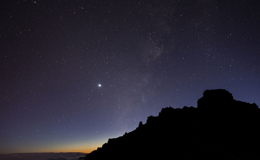 Astronomy Canary Islands Constellation Galaxy La Palma Milky Way Mountain Nature Night No People Outdoors Sky Space Spaın Star Field Roque De Los Muchachos The Great Outdoors - 2017 EyeEm Awards