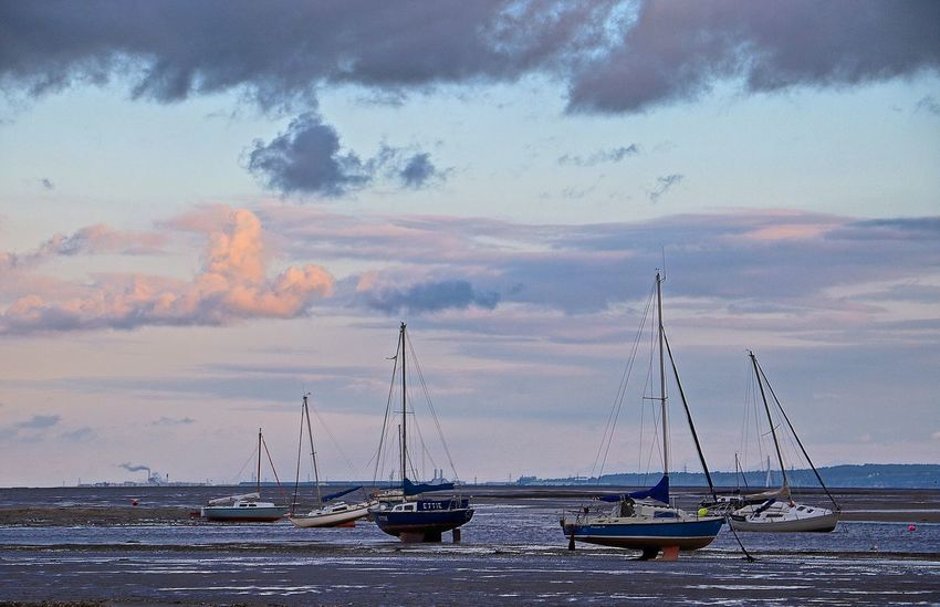 Boat Cloud Cloud - Sky England England🇬🇧 Journey Mast Mode Of Transport Mud Flat Nature Ocean Outdoors Sailboat Sailing Scenics Sea Tranquil Scene Tranquility Transportation Water Wirralcountrypark