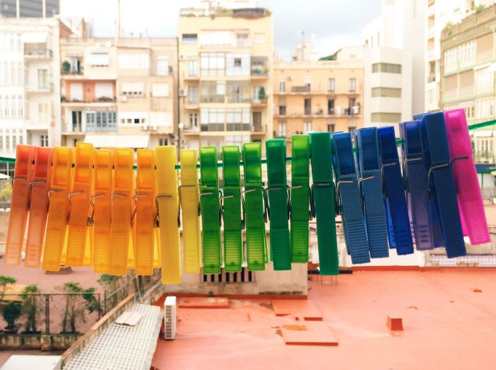 From my window I see colors... From The Rooftop Colors Rainbow Everything In Its Place