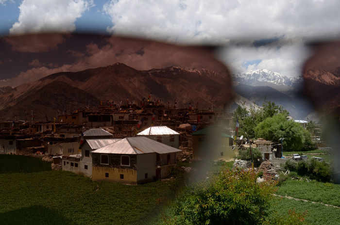 Showing Imperfection Goggles Glasses Sunny Landscape Polariser Tint Nako Village Polarising Glasses