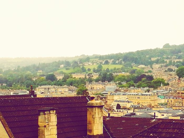 No People Outdoors Tree Day City Centre City In Valley Historic City Historic Building City Of Bath Distant Hills Long View Valleys Chimney Tops Chimney Stacks Hill Hills Rooftop View  Architecture Sky City The Royal Crescent, Bath, UK Chimneys