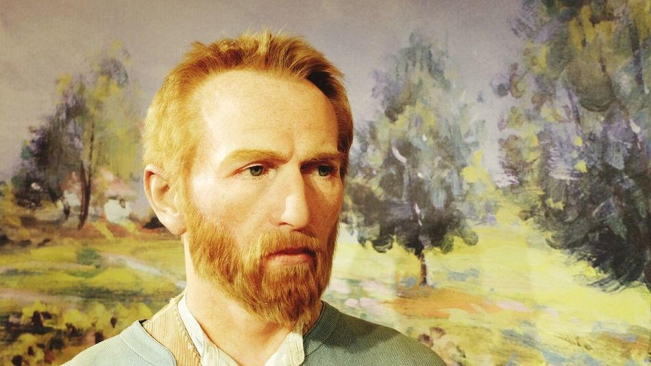 Van Gogh, taken at Madame Tussauds in Amsterdam Wax Wax Museum What Is Reality?