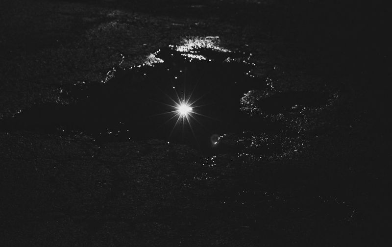 Puddles of Starlight Star Puddle Abstract Happy Love Blackandwhite Cement Asphalt Light Astronomy Arts Culture And Entertainment Sky Exploding Milky Way Constellation Galaxy Nebula