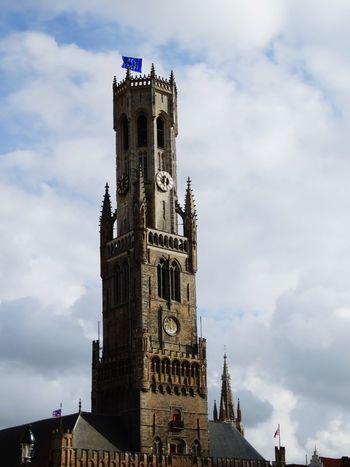 Tower Architecture Clock Tower History Cloud - Sky Travel Destinations Building Exterior Sky Clock Built Structure Day Cityscape No People Urban Skyline Outdoors Politics And Government City Clock Face Brugge, Belgium Belfort Beffroi Cityscape Brugges Architecture Flamand Architecture