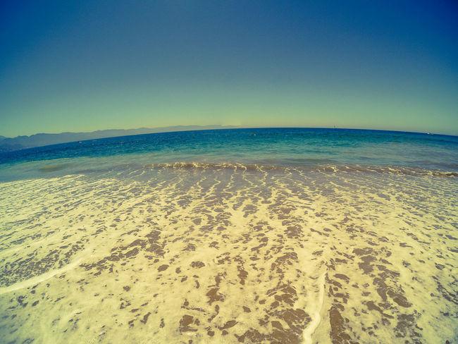 a beach day. UnderSea Sea Water Clear Sky Beach Sand Sand Dune Blue Pastel Colored Sky