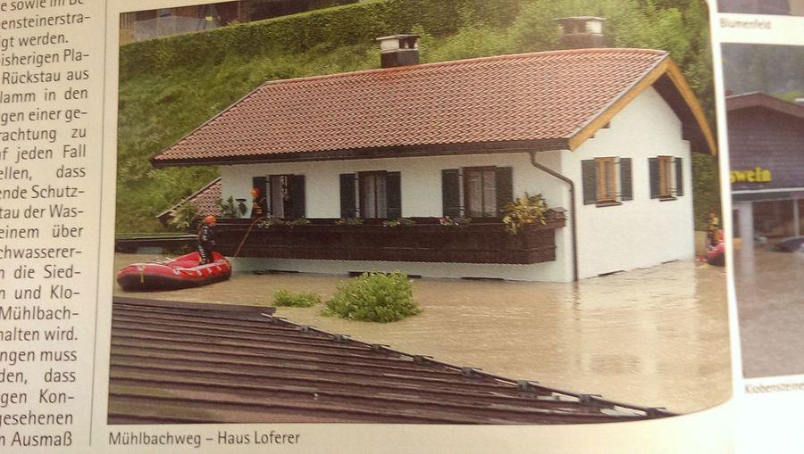 Mein Grosselternhaus, Hochwasser 2013